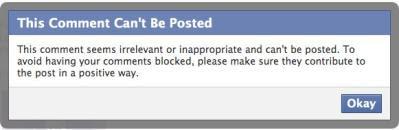 Facebook - comment block