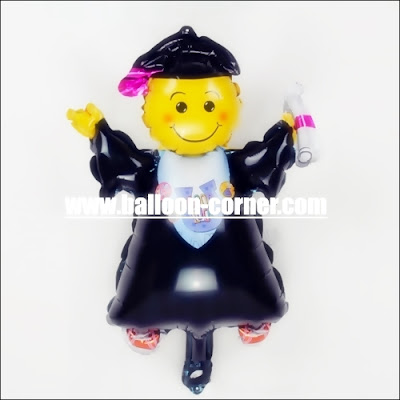 Balon Foil Graduation Wisuda Mini
