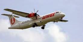 Wings Air melayani rute penerbangan ke Banyuwangi dengan pesawat ATR 72-500.