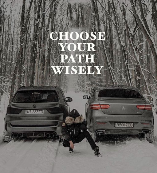 Choose your path wisely. #lifequote