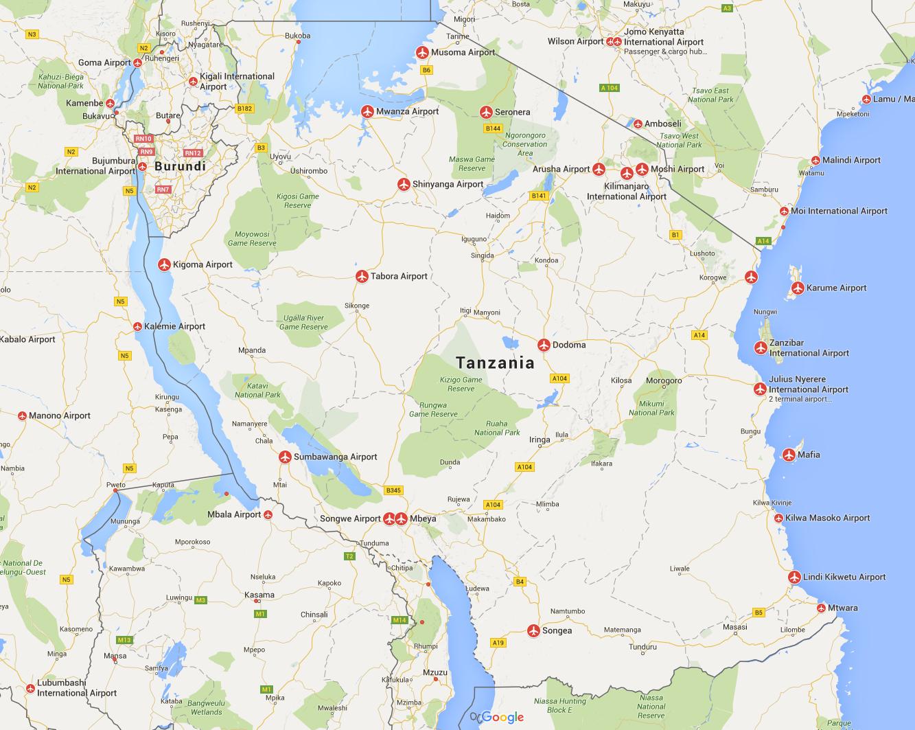 Airports Tanzania