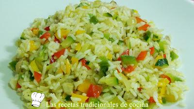 Cómo hacer arroz frito con verduritas Receta fácil