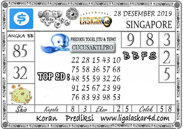Prediksi Togel SINGAPORE LASKAR4D 28 DESEMBER 2019