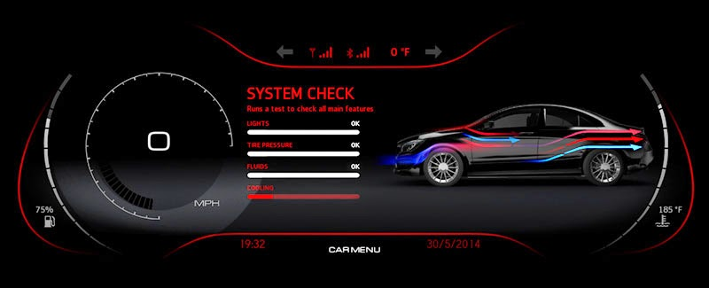 QNX 2014 technology concept car - virtual mechanic