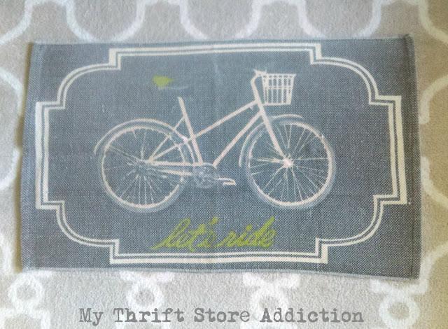 thrifted bike rug