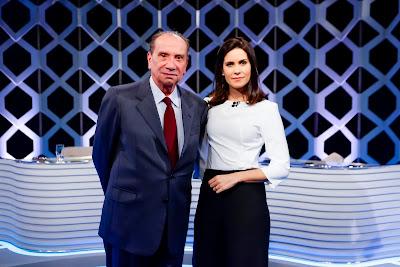 O Ministro ao lado de Bergamasco (Crédito: Gabriel Cardoso/SBT)