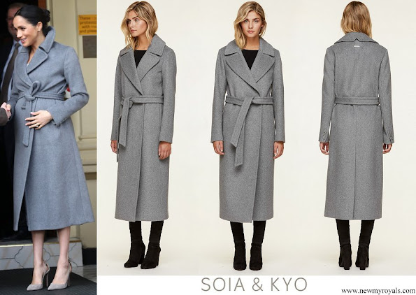 Meghan Markle wore Soia & Kyo Adelaida Ash Grey Coat
