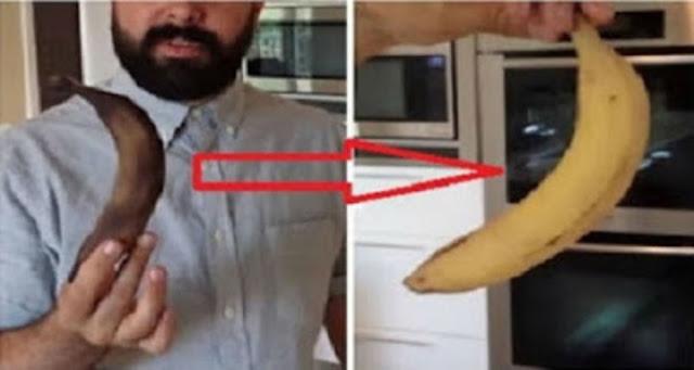 طريقة إسترجاع لون الموز من الأسود الى الأصفر في دقائق اغرب من الخيال #ِشاهد