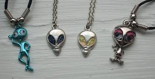 alien necklaces