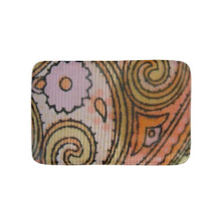 Paisley print bath mat