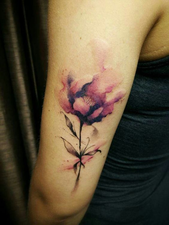 Watercolor Flower Tattoo: 50 Beautiful Floral Tattoos Designs And Ideas For Boy And