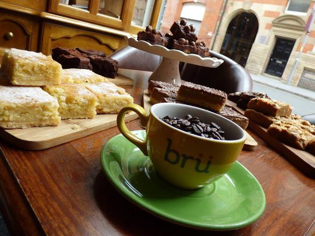 bru, coffee shop, leicester