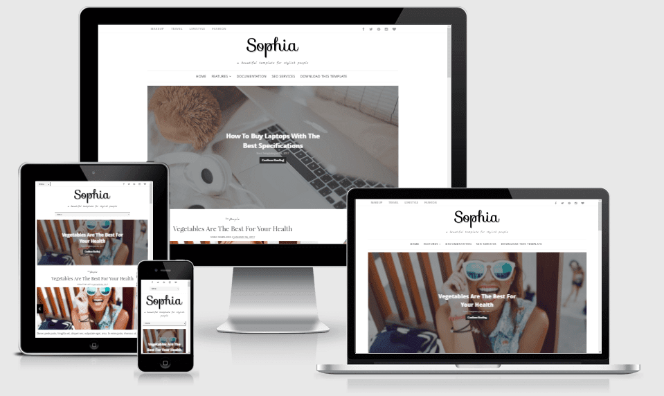 Sophia - Responsive Minimal Blogger Template - Way Templates | Best ...