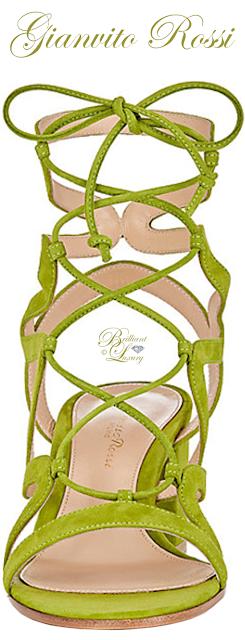 Brilliant Luxury ♦ Gianvito Rossi Artemis Suede Gladiator Sandals