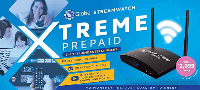 Get the Globe Streamwatch Xtreme Prepaid