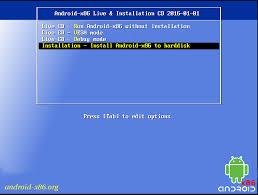 cara instal android x86