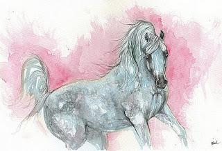 caballos-en-movimiento-dibujos-acuarelas dibujos-acuarelas-caballos