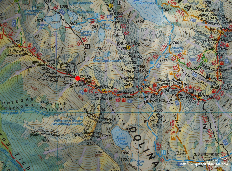 Świnica na mapie