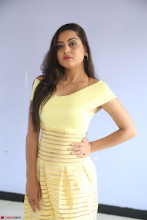 Shipra gaur in V Neck short Yellow Dress ~  060.JPG