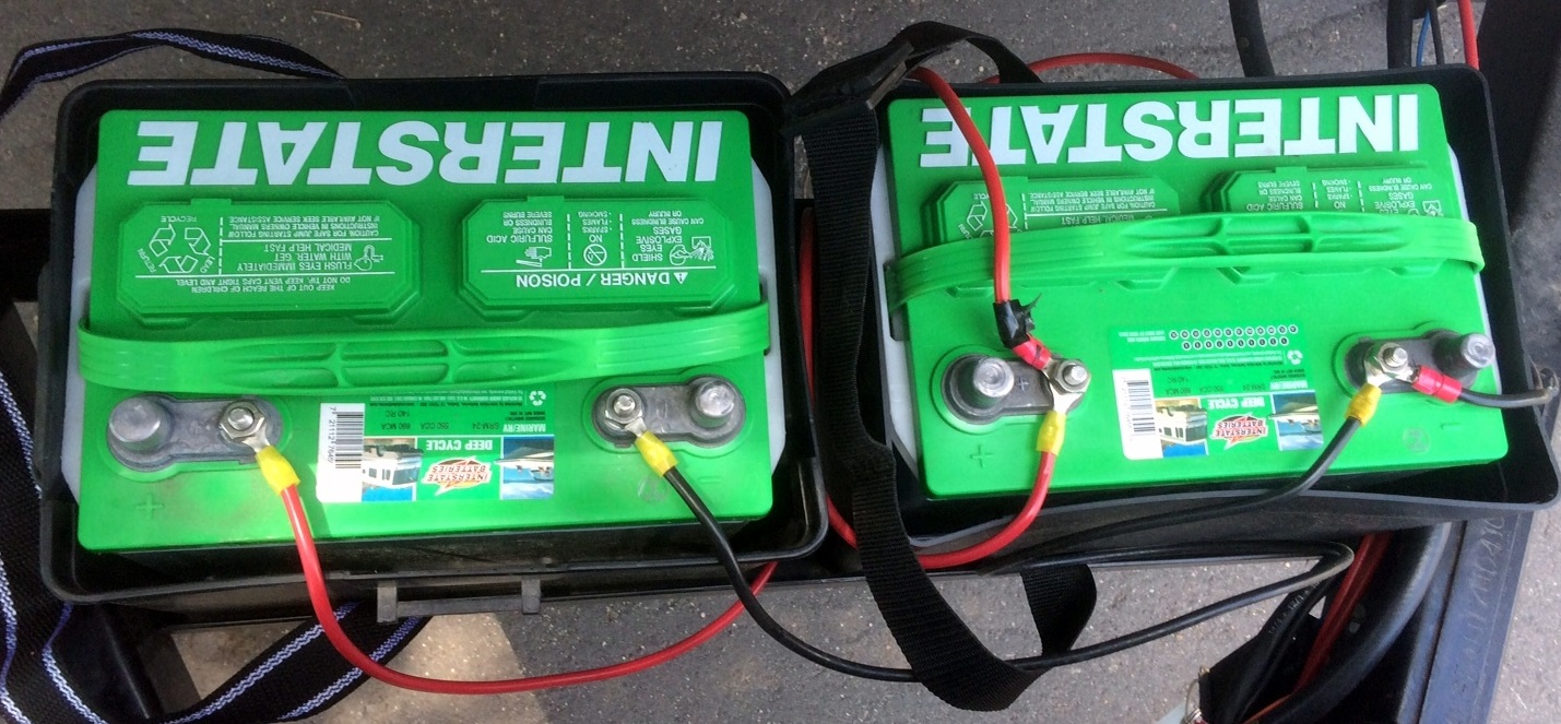12 volt batteries wired in parallel there is something wrong with the wiring can you solve it  [ 1429 x 663 Pixel ]