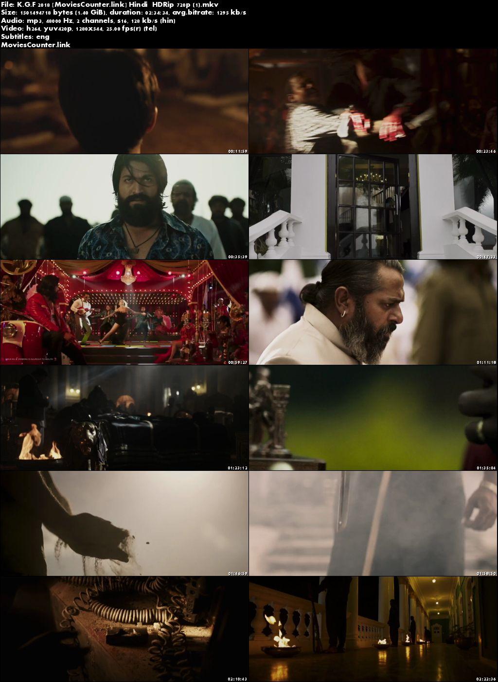 Poster K.G.F: Chapter 1 2018 Hindi Dubbed HD 720p