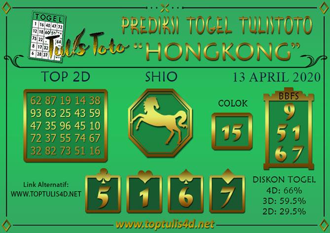 Prediksi Togel HONGKONG TULISTOTO 13 APRIL 2020