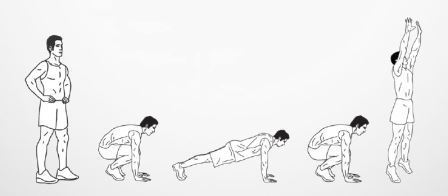 crossfit workout burpees