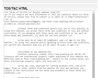 kode html terms of service