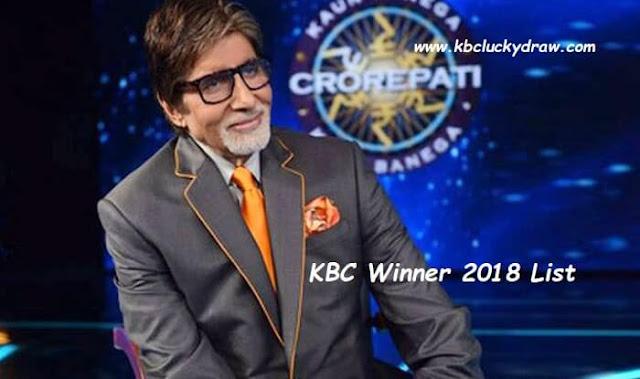 kbc lottery winner 2018