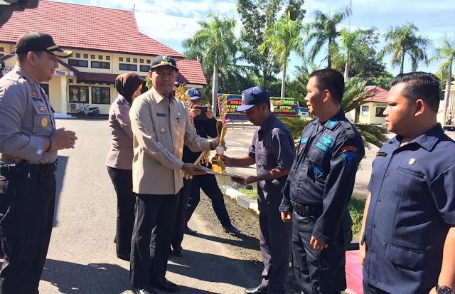 Upacara Hari Ulang Tahun Satpam Ke-38 di Kabupaten Tebo Berjalan Khidmat