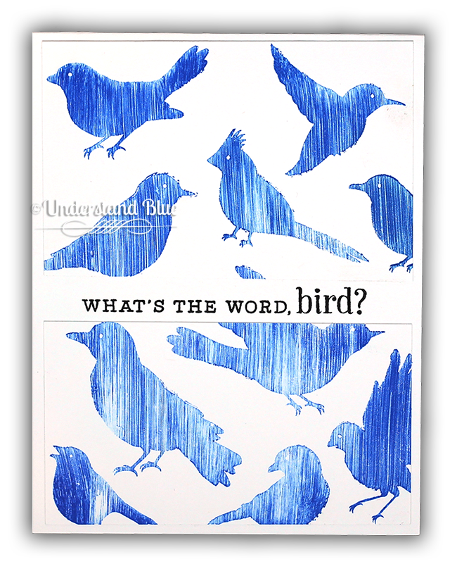Swipe Stamping Birds by Understand Blue
