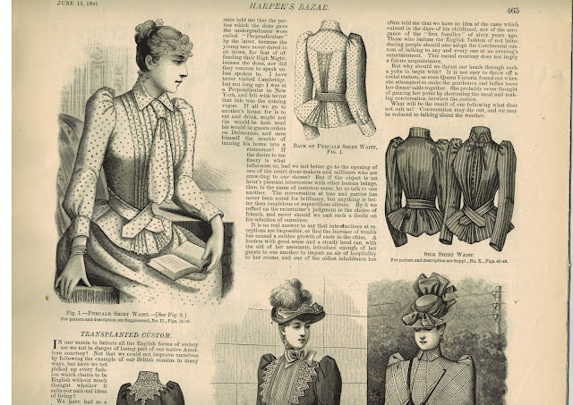 Beautiful Dresses for Rue & Prim in the Custard Protocol Books, from Harper's Bazaar 1891 from Gail Carriger