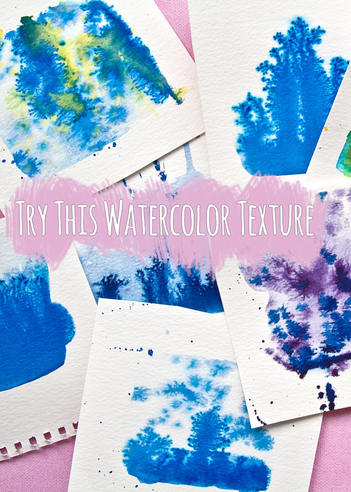 Try this Watercolour Texture painting technique, video by Kim Dellow