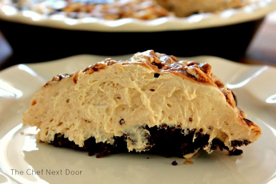 No-Bake Chocolate Maple Peanut Butter Pie | The Chef Next Door