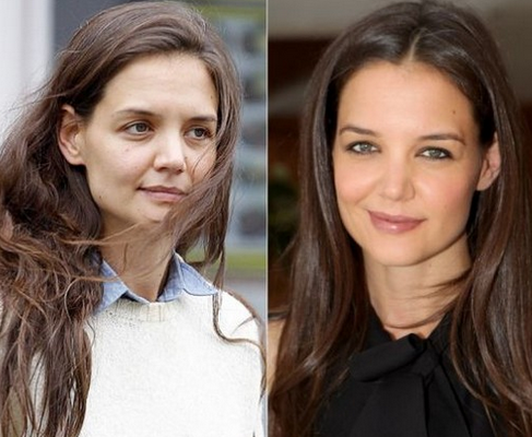 Katie Holmes Tanpa Make Up