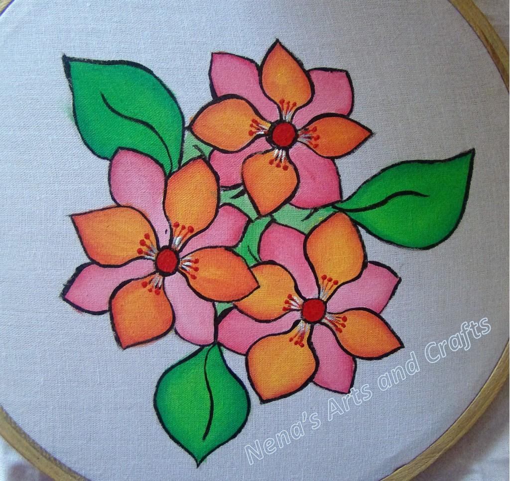 nenas arts and crafts fabric paintingblendingdiy