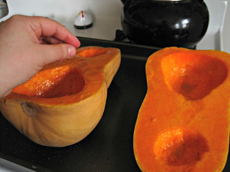 sprinkling butternut squash with salt before roasting recipe