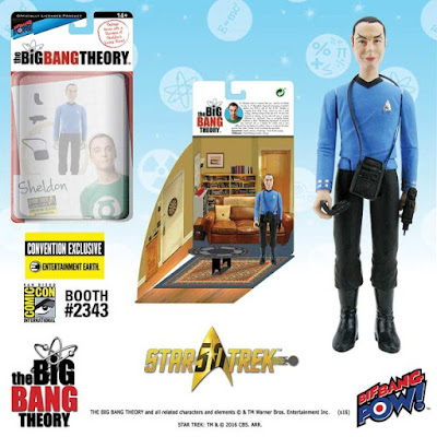 "San Diego Comic-Con 2016 Exclusive The Big Bang Theory x Star Trek: The Original Series 3¾"" Action Figures by Bif Bang Pow! x Entertainment Earth - Sheldon Spock"
