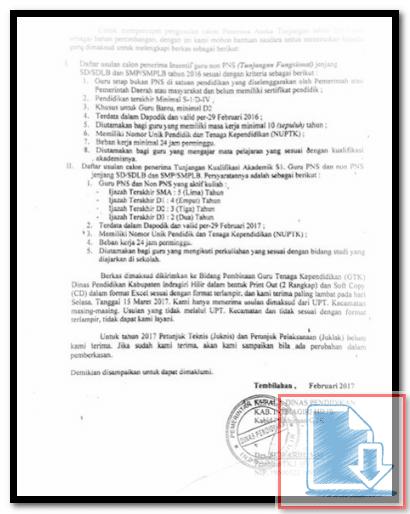 Download Surat Edaran Usulan Calon Penerima Aneka tunjangan 2017