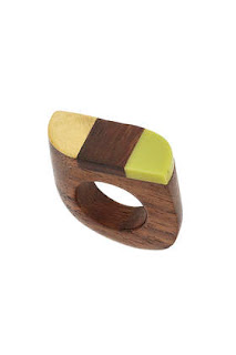 Wooden Seventies Ring Topshop