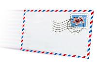 Gelen posta mektup zarfı, postalamak