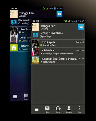 BBM MOD Dark Grey Transparan V2.8.0.21 APK