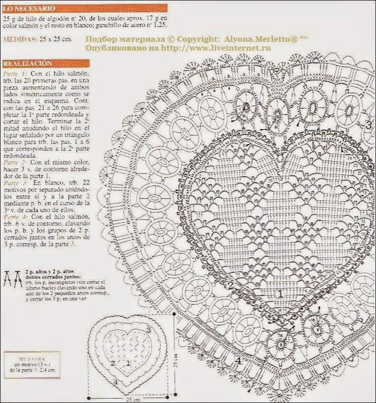 Famoso En Forma De Corazón Patrón De Crochet Modelo - Ideas de ...