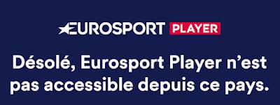Désolé, EuroSport Player n'est pas accessible depuis ce pays