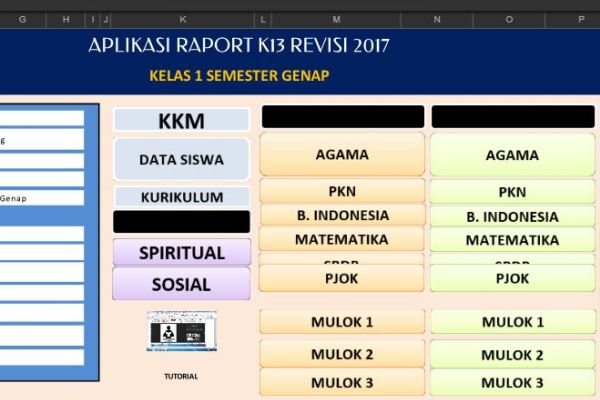 Aplikasi Penilaian Raport K13 Kelas 1 Semester 2 Sekolahdasar Net