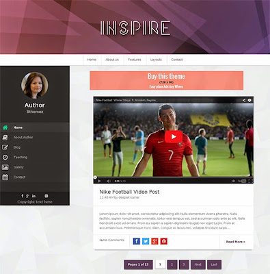 Inspire Blogger Template Image