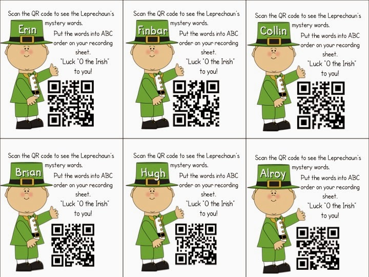 Mrs  Samuelson's Swamp Frogs: QR Code for ABC Order