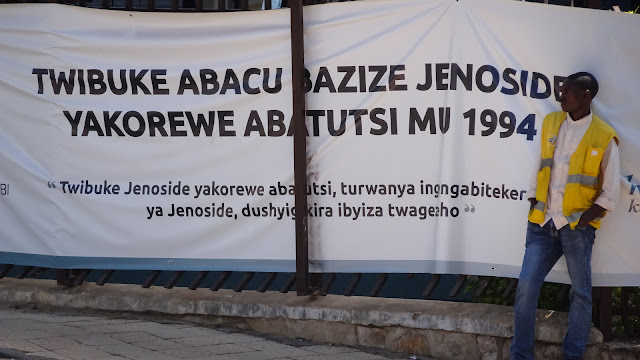 One of many poster in the city to remember the Genocide
