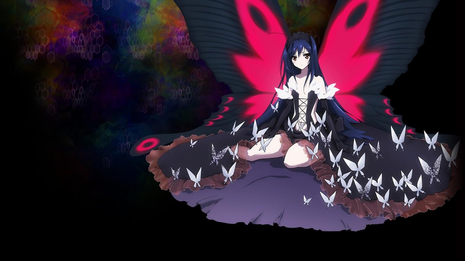 Hd Wallpaper Accel World Kuroyukihime Butterfly Wings 0003