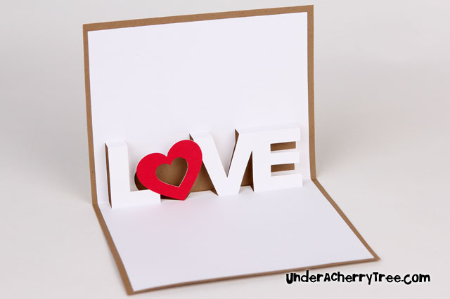 free popup card templates - under a cherry tree love a pop up card free download